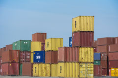 Containers from different company's. Stock Images