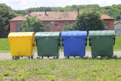 Containers for the disposal of waste Royalty Free Stock Photo