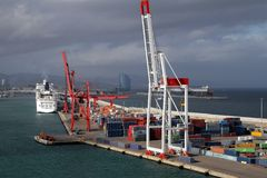 Containers dock Royalty Free Stock Photography