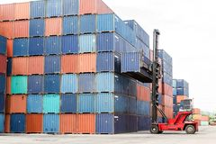 Containers at the Docks Royalty Free Stock Photo