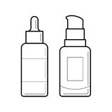Containers for foundation vector illustration