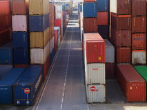CONTAINERS ON HARBOUR Stock Images