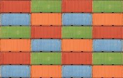 Containers het verschepen Stock Afbeeldingen