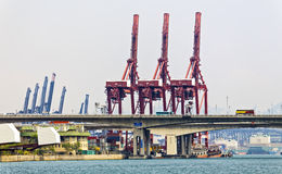 Containers at Hong Kong commercial port Stock Photography