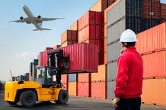 Containers loading Royalty Free Stock Photography