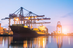 Containers loading Shipping by crane Royalty Free Stock Photo