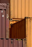 Containers in Montreal. Location: Port of Montreal, Canada. Camera: D200, lens: Sigma 70-200 stock photos