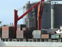Containers op een schip Royalty-vrije Stock Foto's