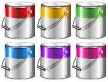 Containers with paint Royalty Free Stock Photography
