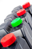 Containers or plastic bottles Royalty Free Stock Images