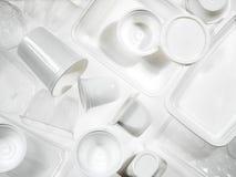 Containers plastiek en polystyreen Stock Foto's