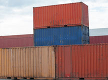 Containers at the port Royalty Free Stock Image