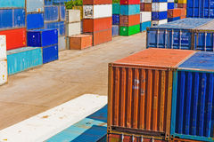Containers in the port Royalty Free Stock Image