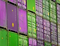 Containers at the Port of Hamburg royalty free stock photo