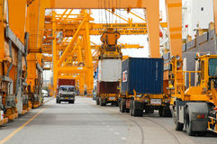 Containers. Port,harbor,harbour,thailand,Import, export, store, transport, ship Stock Photos