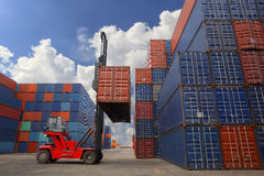Containers. In the port of Laem Chabang in Thailand stock images