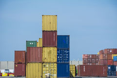 Containers on the quay. royalty free stock photo