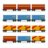 Containers on a Railway Container Platform Stock Image