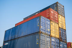 Containers ready to be shipped Royalty Free Stock Images