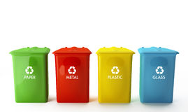 Containers for recycling Royalty Free Stock Photography