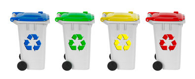 Containers for recycling Royalty Free Stock Photo