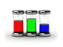Containers with RGB ink Royalty Free Stock Photos
