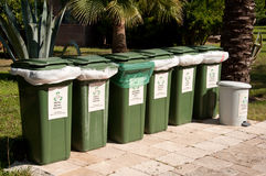 Containers for a separate waste collection Stock Images