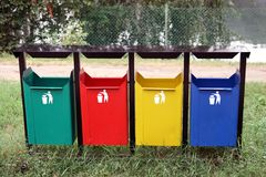 Containers for separate waste Royalty Free Stock Photos