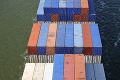 Containers on a ship Royalty Free Stock Images