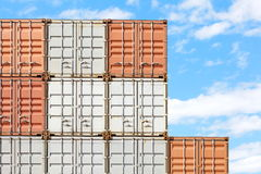 Containers shipping Royalty Free Stock Images