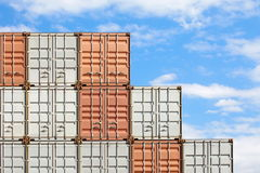 Containers shipping Stock Image