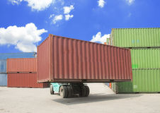Containers shipping business background Royalty Free Stock Photos