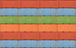 Containers shipping. Cargo shipping containers stacked up at port royalty free stock photography