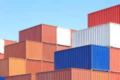 Containers shipping. From container yerd royalty free stock photo