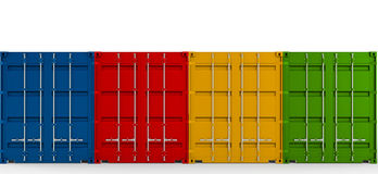 Containers shipping. On white background Stock Image