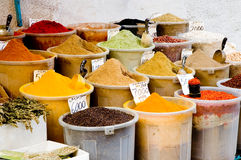 Containers of spices Stock Photo