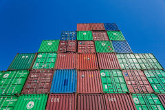 Containers Stack Blue Royalty Free Stock Photos