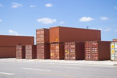 Containers stack III Stock Images