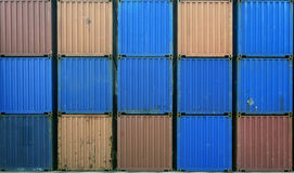 Containers stack for shipping. Mullti color stock images