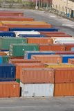 Containers stack V Royalty Free Stock Photography