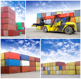 Containers stacked Royalty Free Stock Image