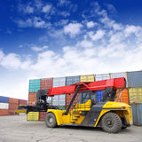 Containers stacked Royalty Free Stock Images