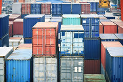 Containers stacked Stock Photography