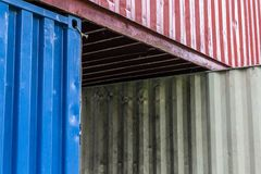 Containers are stacked stock photos