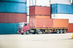 Containers storage area Royalty Free Stock Photography