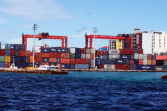 Containers terminal Royalty Free Stock Photos
