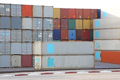 Containers Terminal Stock Photography