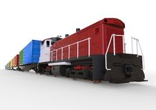 Containers train concept Stock Image