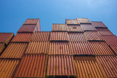 Containers warehouse distribution Royalty Free Stock Photos