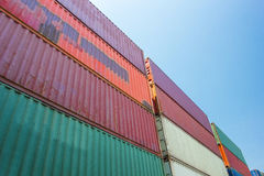 Containers warehouse distribution Royalty Free Stock Images